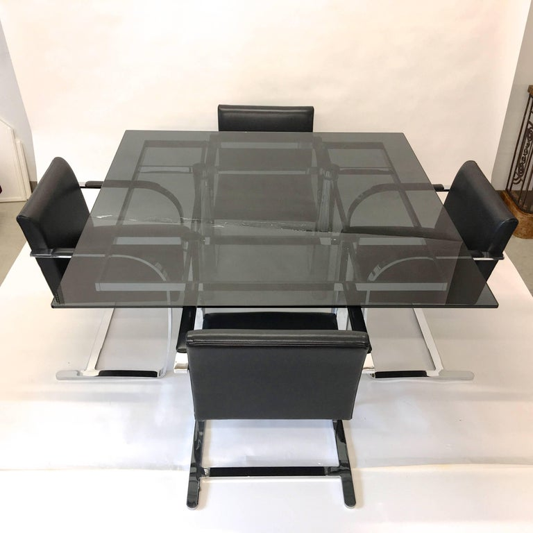 'Andre' Square Dining Table by Tobia Scarpa for Knoll In Excellent Condition For Sale In Hingham, MA