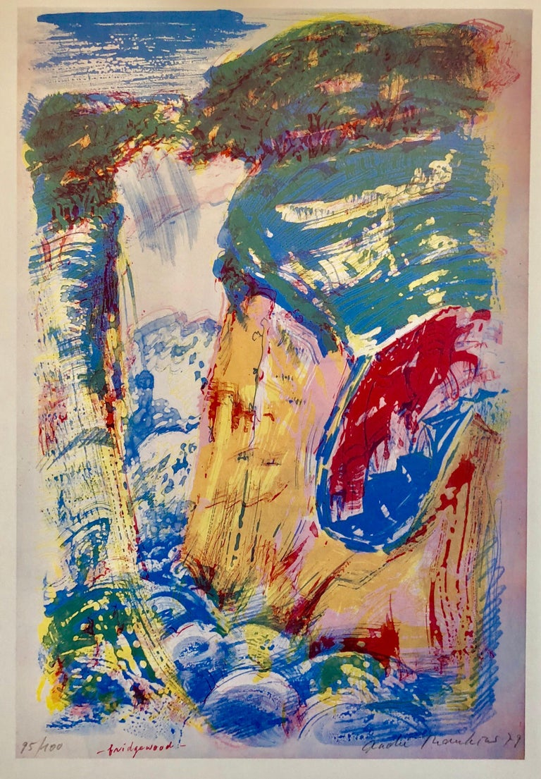 André Thomkins Figurative Print - 1970s Modernist Swiss Colorful Surrealism Signed Dada Lithograph Andre Thomkins