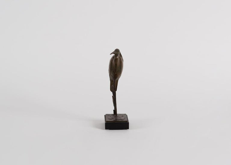 French Andre Vincent Becquerel, Bronze Sculpture of a Kingfisher Bird, France For Sale