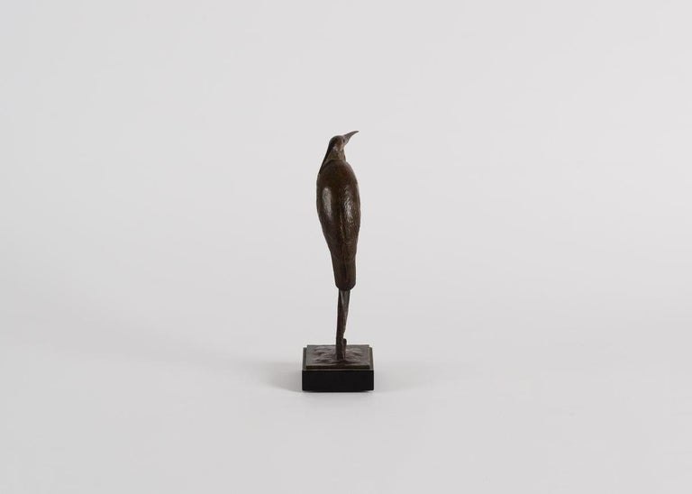 Andre Vincent Becquerel, Bronze Sculpture of a Kingfisher Bird, France In Good Condition For Sale In New York, NY