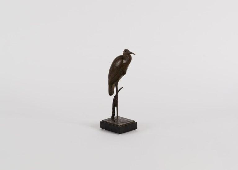 Andre Vincent Becquerel, Bronze Sculpture of a Kingfisher Bird, France For Sale 1