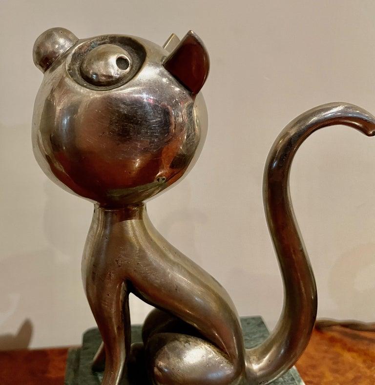 André Vincent Becquerel Cat Sculpture Bronze Art Deco For Sale 4