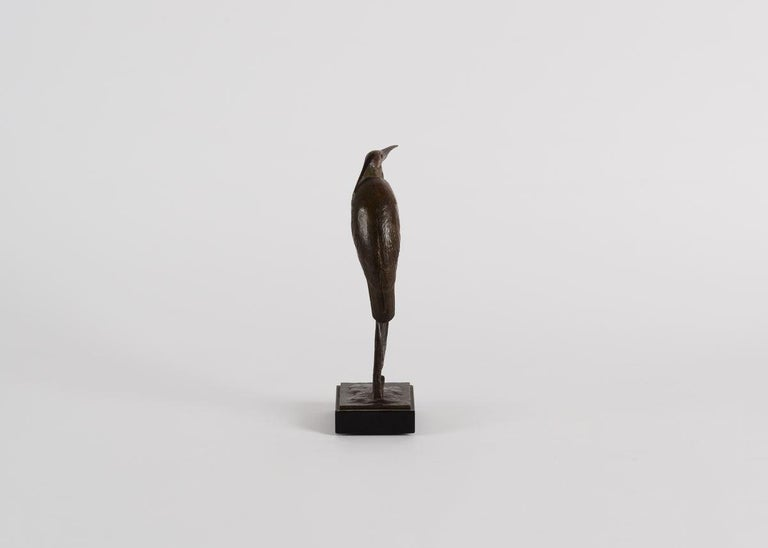 French André Vincent Becquerel, Sculpture of a Kingfisher, France, 20th Century For Sale