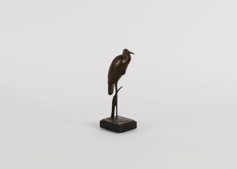 André Vincent Becquerel, Sculpture of a Kingfisher, France, 20th Century In Good Condition For Sale In New York, NY