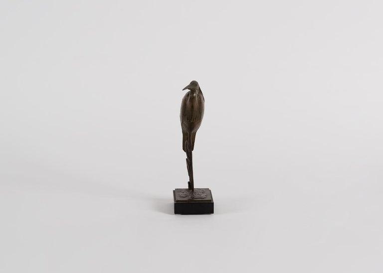 Bronze André Vincent Becquerel, Sculpture of a Kingfisher, France, 20th Century For Sale