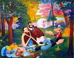 ANDRE VON MORISSE, Picnic (d'apres Edouard Manet, Le Dejeuner sur l'Herbe), 2013