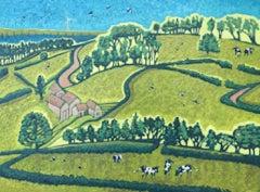 Andrea Allen, Somerset Boulevard, Original Oil Painting, Landscape Art
