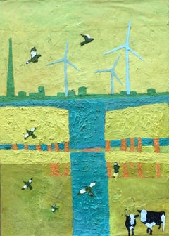 Andrea Allen, Windy Horizons, Contemporary Art Landscape Art, Affordable Art