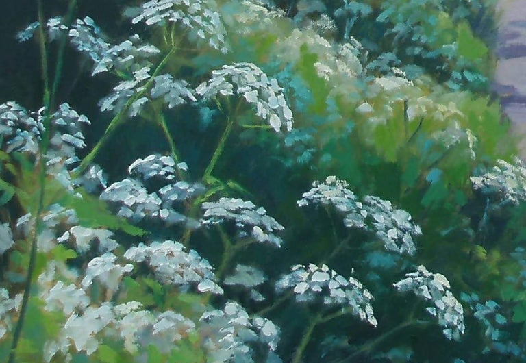 Cow Parsley in May - Painting by Andrea Bates