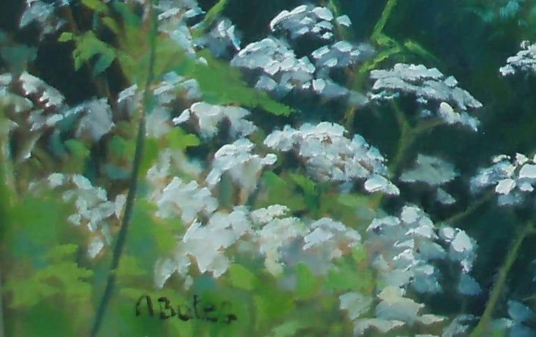 Cow Parsley in May - Naturalistic Painting by Andrea Bates