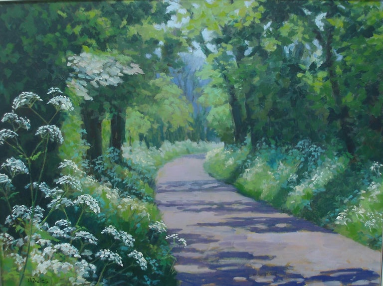 Andrea Bates Still-Life Painting - Cow Parsley in May