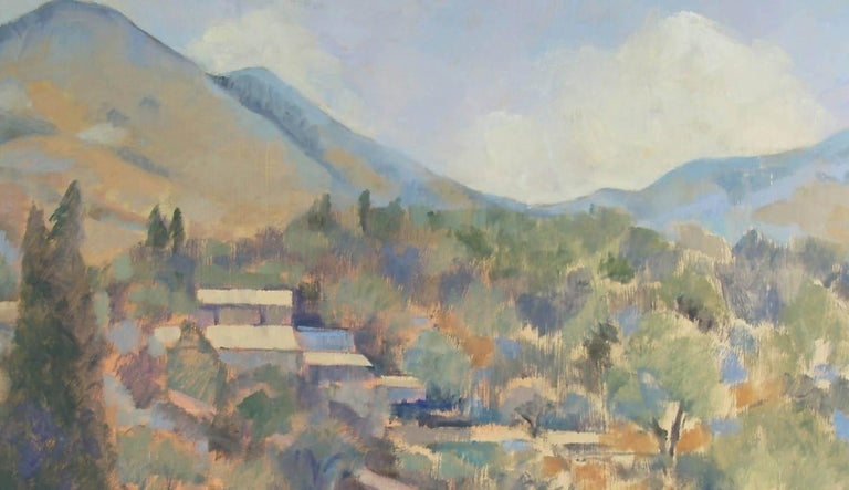Greek Village  - Painting by Andrea Bates