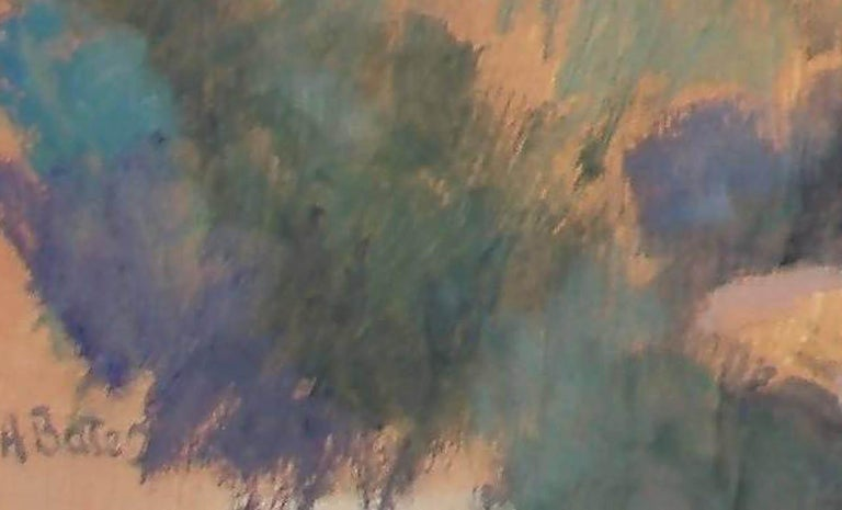 Greek Village  - Abstract Impressionist Painting by Andrea Bates