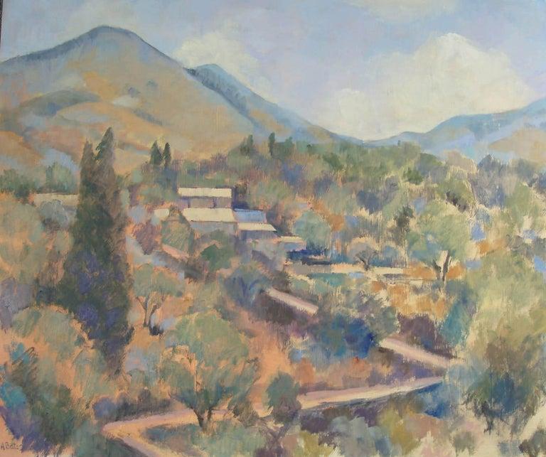 Andrea Bates Still-Life Painting - Greek Village