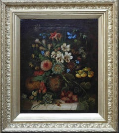 A Floral Arrangement - Dutch Old master still life oil painting flowers