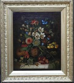 A Floral Arrangement - Dutch Old master still life oil painting flowers