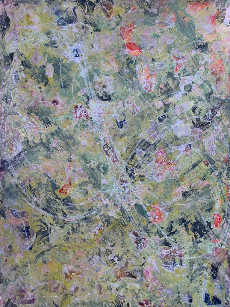 Andrea Bonfils Abstract Painting - Jungle Run II