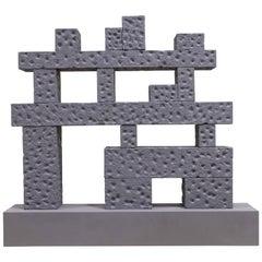 """Andrea Branzi, """"Cromlech"""", Bookcase, Shelf, Aluminum, Concrete,  2019"""