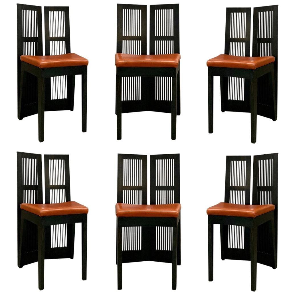 "Andrea Branzi ""Lubekka"" Dining Chairs for Cassina, 1991, Set of 6"