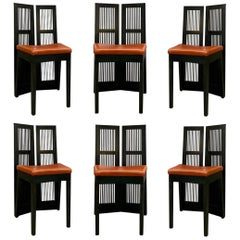 "Andrea Branzi ""Lubekka"" Dining Chairs for Cassina, 1991, Set of 6"