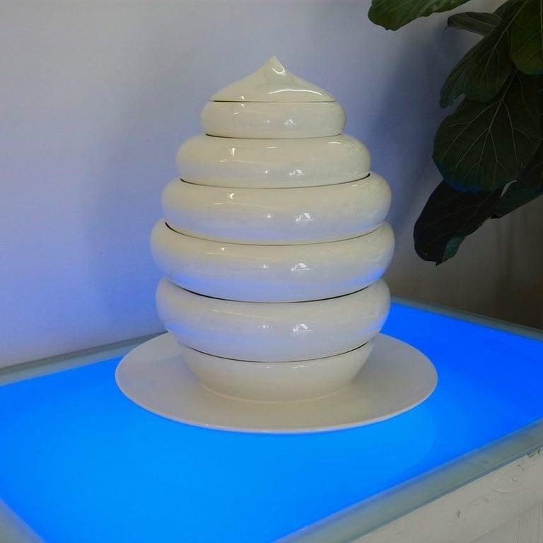 Modern Andrea Branzi Italian Ceramic Sculpture Model Pila Superego Editions For Sale