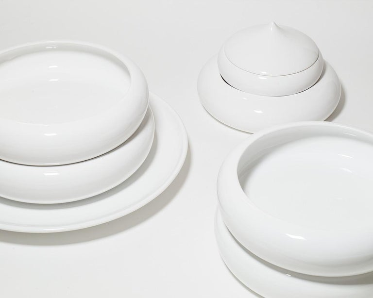 Enameled Andrea Branzi Italian Ceramic Sculpture Model Pila Superego Editions For Sale