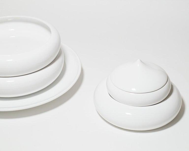 Andrea Branzi Italian Ceramic Sculpture Model Pila Superego Editions In Excellent Condition For Sale In Milan, Italy