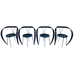 """Andrea Branzi """"Revers"""" Dining Arm Chairs for Cassina, 1990s, Three Available"""