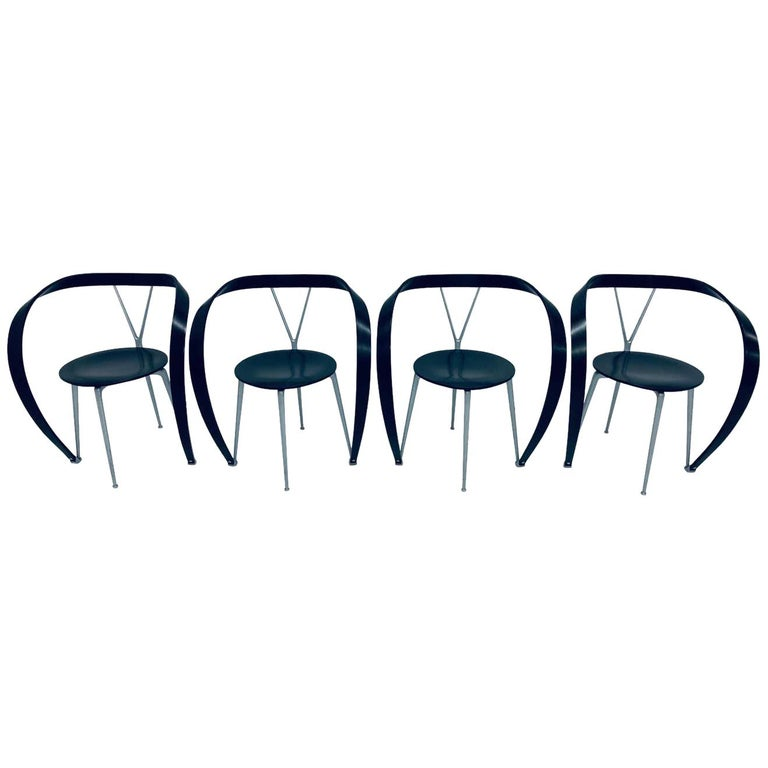 """Andrea Branzi """"Revers"""" Dining Arm Chairs for Cassina, 1990s, Three Available For Sale"""