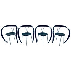 """Andrea Branzi """"Revers"""" Dining Armchairs for Cassina, 1990s, Set of Four"""