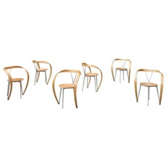 "Andrea Branzi ""Revers"" Dining Chairs for Cassina, 1993, Set of 6"