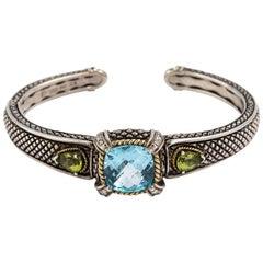 Andrea Candela Bracelet Sterling Silver 18 Karat Semi Precious Stones