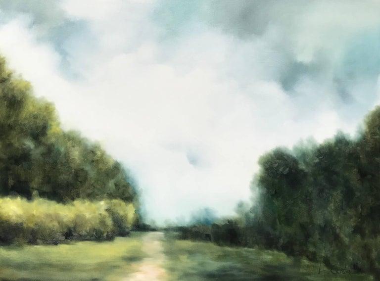 Botanical Garden, Large Impressionist Landscape Painting