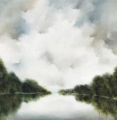More than This by Andrea Costa, Large Impressionist Landscape Oil Painting