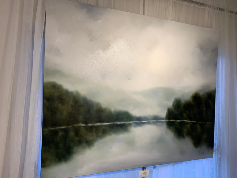 Morning Air by Andrea Costa 2020 Large Oil on Gesso Landscape Painting For Sale 2