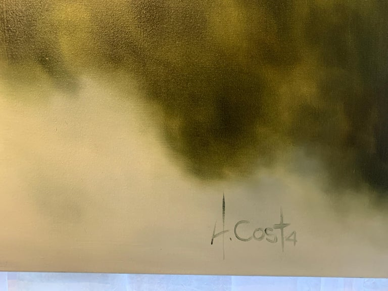 Morning Air by Andrea Costa 2020 Large Oil on Gesso Landscape Painting For Sale 3