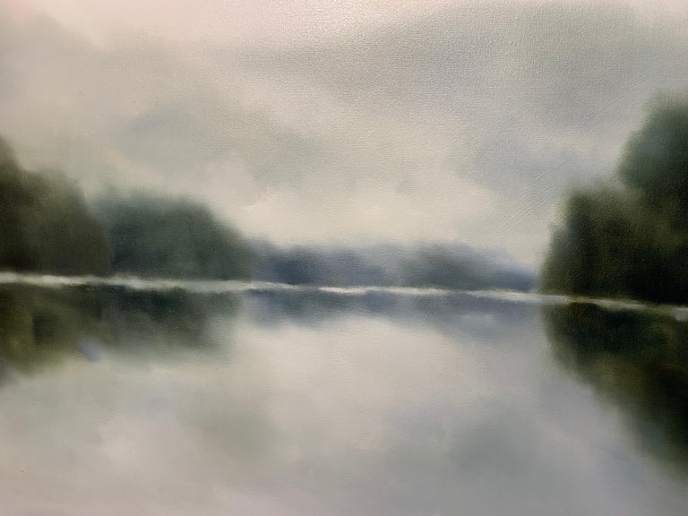Morning Air by Andrea Costa 2020 Large Oil on Gesso Landscape Painting For Sale 4