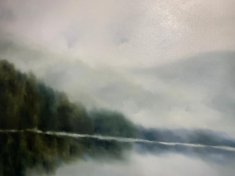 Morning Air by Andrea Costa 2020 Large Oil on Gesso Landscape Painting For Sale 5