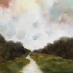The Path Back to Myself by Andrea Costa, Large Oil on Gesso Landscape Painting