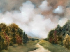 Whispering Meadow by Andrea Costa 2020 Large Oil on Gesso Landscape Painting