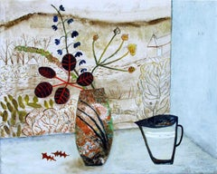 Andrea Humphries, Flowers and Moor, Original Contemporary Still Life Art