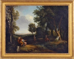 Classical landscape with figures resting