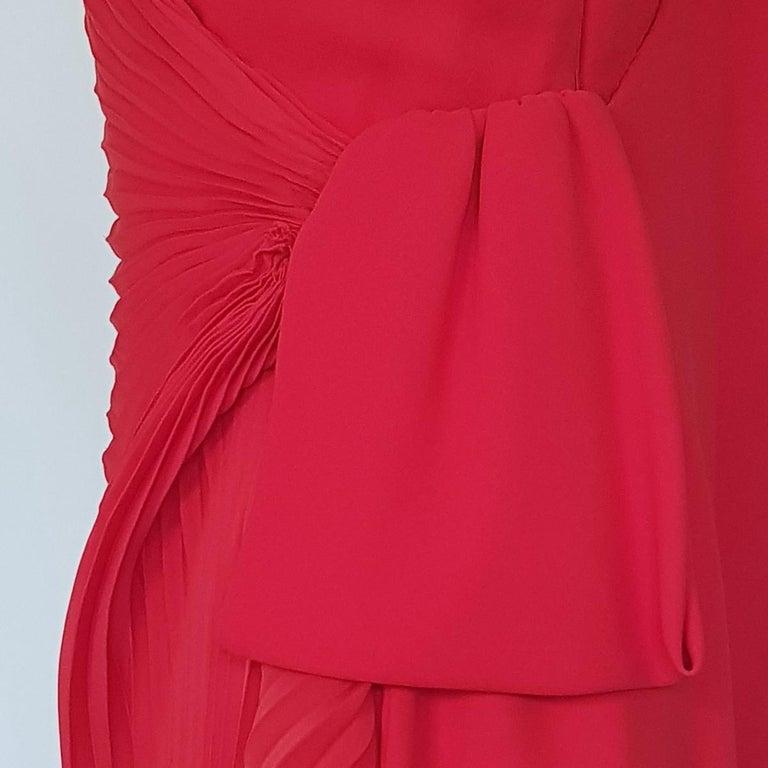 Andrea Odicini Couture Red Dress L In Excellent Condition For Sale In Gazzaniga (BG), IT
