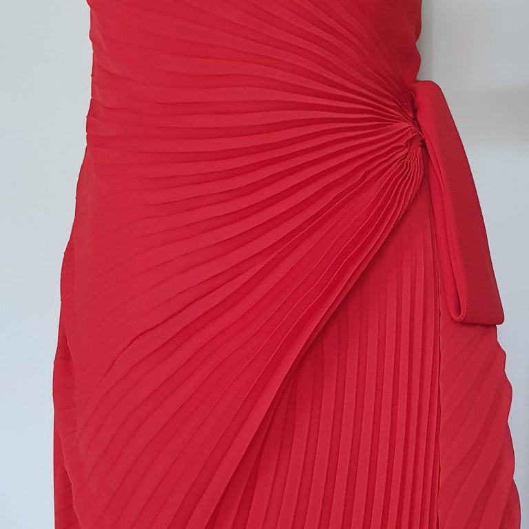 Women's Andrea Odicini Couture Red Dress L For Sale