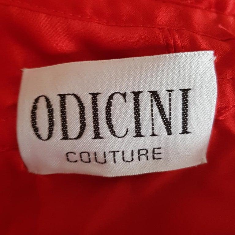 Andrea Odicini Couture Red Dress L For Sale 1