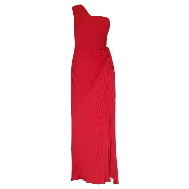 Andrea Odicini Couture Red Dress L For Sale