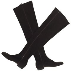 Andrea Pfister Chocolate Brown Thigh High Neoprene Boots