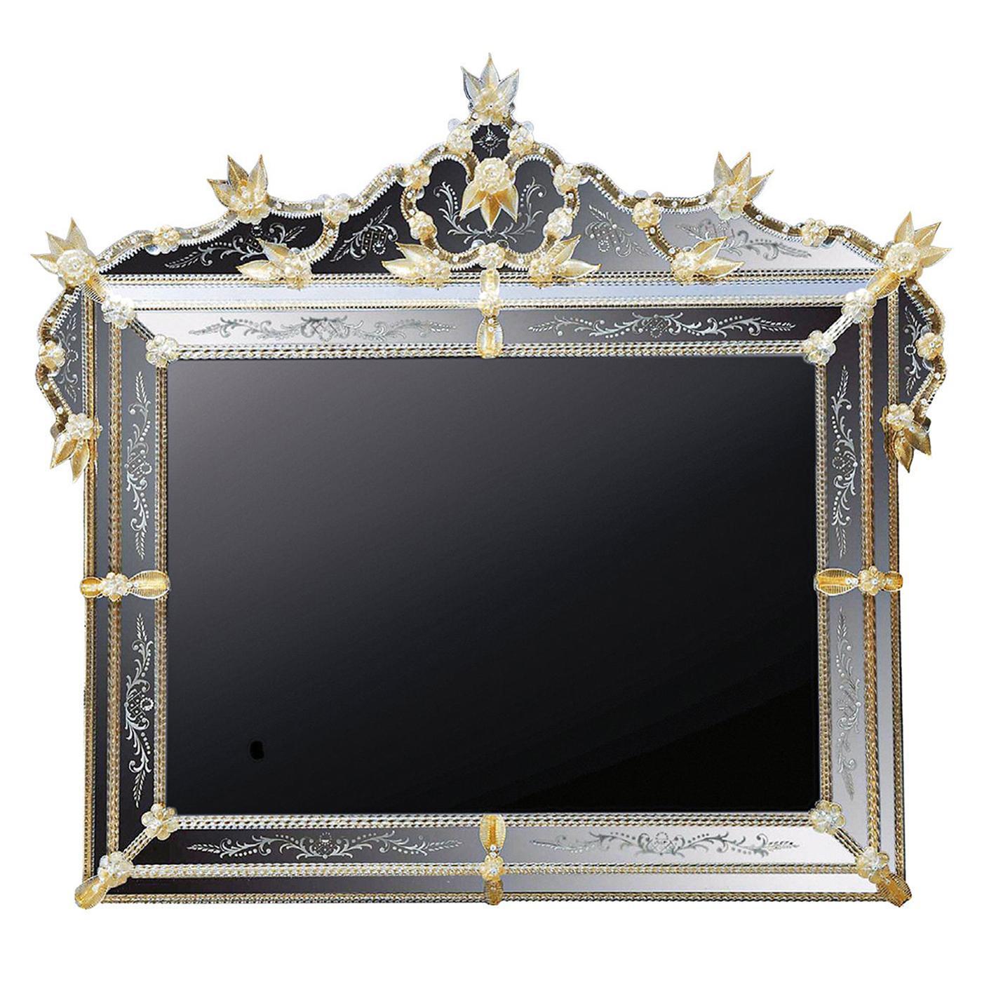 Andrea Polo Murano Glass Mirror with TV