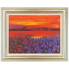 Andrea Razzaauti Painting of Irish Poppy Field