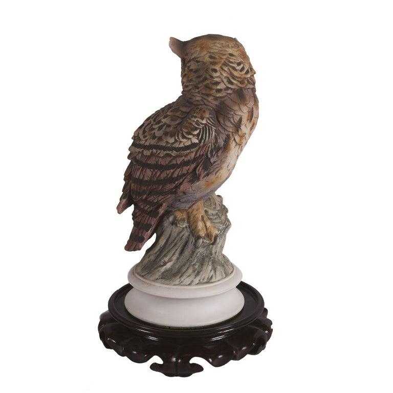 Women's or Men's Andrea Sadek Porcelain Great Horned Owl Center Piece For Sale